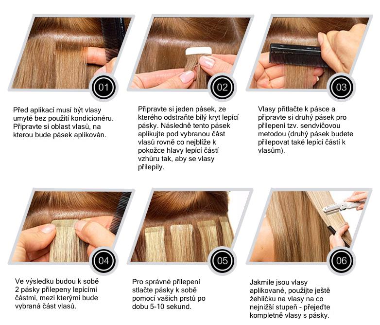 Aplikace vlasových PU pásků
