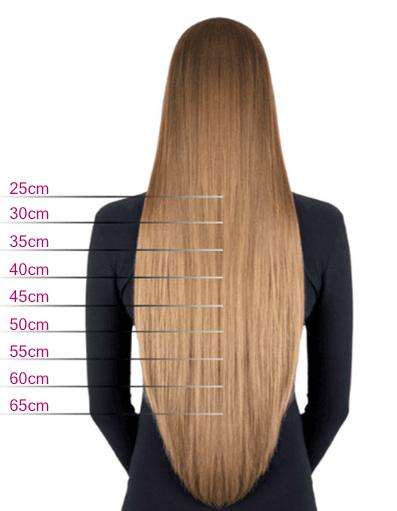 Délka vlasů na prodloužení dle postavy ženy
