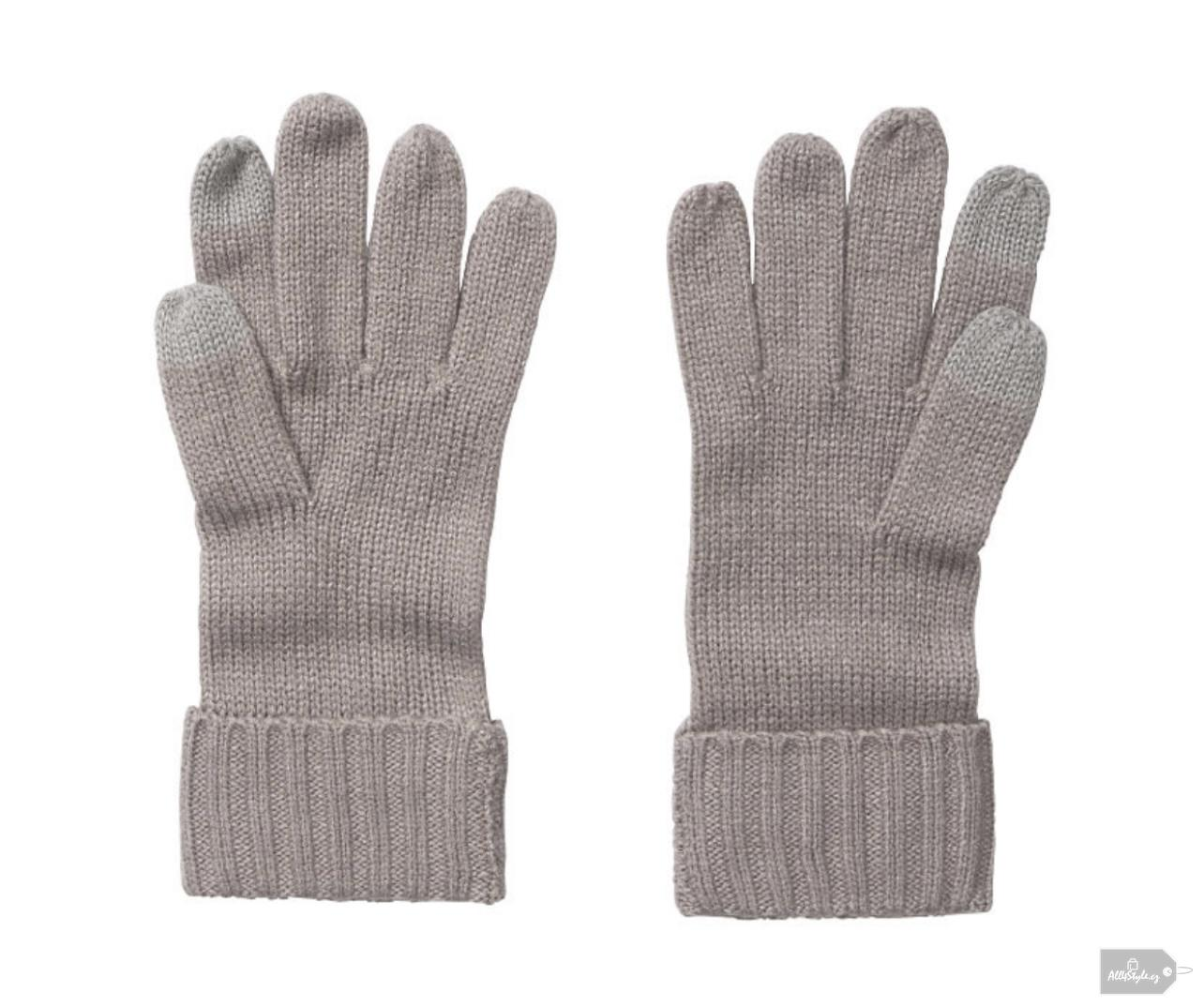 Rukavice Victoria's Secret šedé Soft Gloves